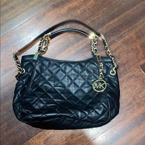 Black leather Michael Kors purse
